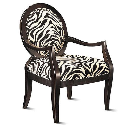 Zebra Print Occasional Chair