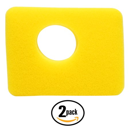 2-Pack Replacement Briggs & Stratton 09P602-0033-H1 Engine Air Cleaner Foam Filter - Compatible Briggs & Stratton 799579 (Stratton Foam Air Filter)