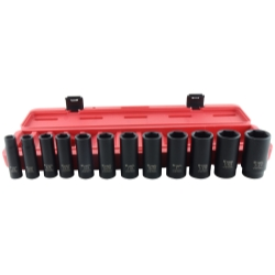SOCKET SET DRIVE 13PC SAE DEEP