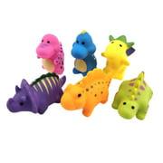 Tuscom 6pcs Baby Bathtub Dinosaur Toys Water Squirt Fun Bath Toy Bathroom Float Set