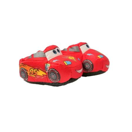Disney Toddler Boys Cars Slippers Plush Red Lightning McQueen Slipper Shoe S 5/6](Disney Slippers)
