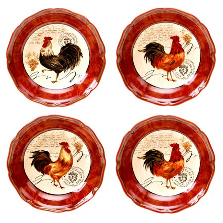 Certified International Tuscan Rooster Soup / Pasta Bowl (Set of 4 ...