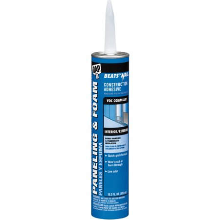 Dap 27425 10.3 oz White VOC Paneling and Foam Construction Adhesive (Adhesive Book)