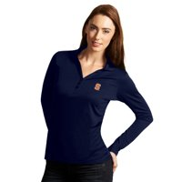 Syracuse Orange Antigua Women's Exceed Long Sleeve Polo - Navy