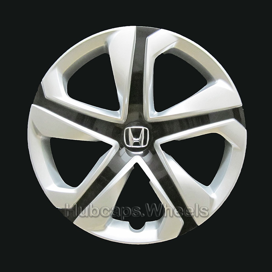 Honda Wheel Cover - OEM Professionally Refinished Like New - Civic 16-inch hubcap 2016 - Silver & Black