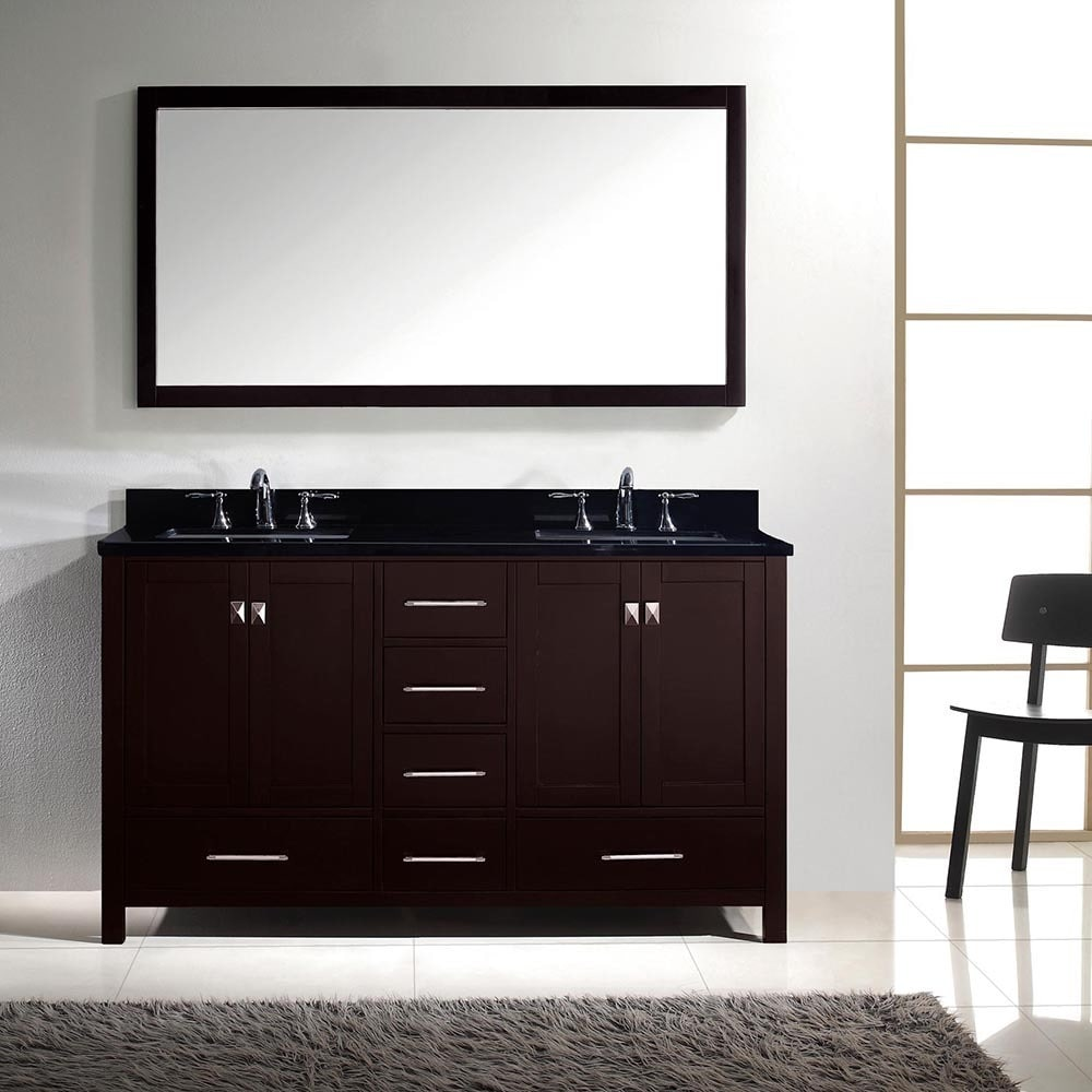 Caroline Avenue 60 Quot Double Bathroom Vanity In Espresso