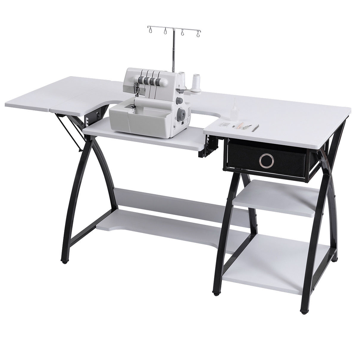 Costway Sewing Craft Table Folding Computer Desk