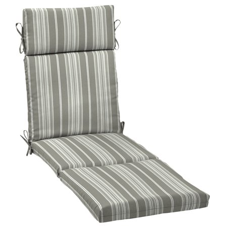 Better Homes & Gardens Gray Stripe 72 x 21 in. Outdoor Chaise Lounge Cushion with EnviroGuard ()