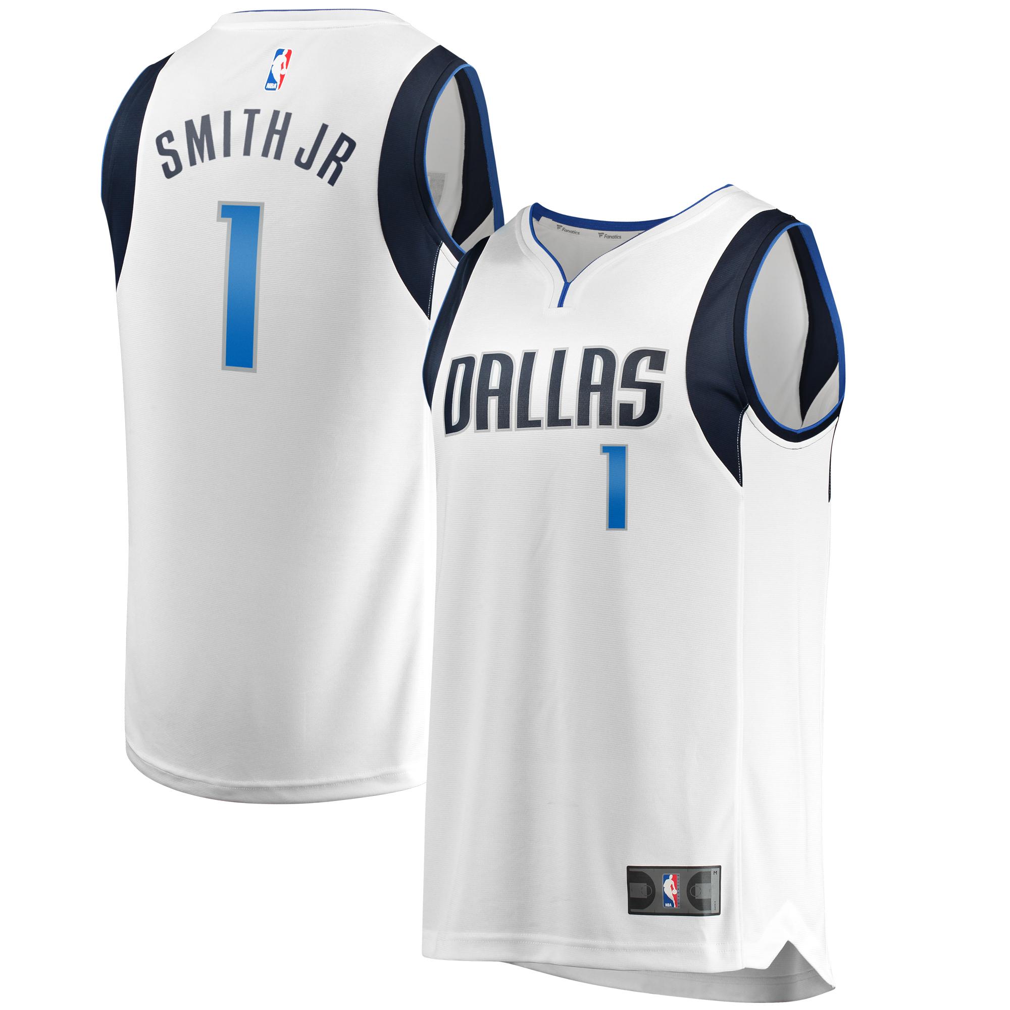 Dennis Smith Jr Dallas Mavericks Fanatics Branded Youth Fast Break Replica Jersey - Association Edition - White