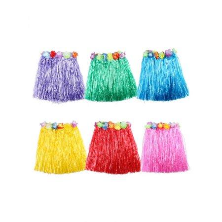 Kids Boys Girls Hawaiian Hula Grass Beach Elastic Skirt Flower Party Hot - Hawaiian Hula Dresses