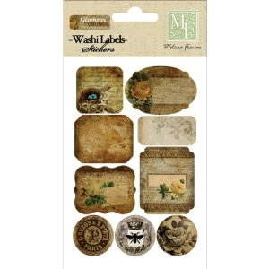 Melissa Frances DSSA-3 Glamour and Grunge Washi Sticker, 4-Inch x 6-Inch, Shape Multi-Colored