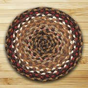 "Earth Rugs MS-408 Round Swatch, 10 x 10"", Brick/Clay/Ivory"