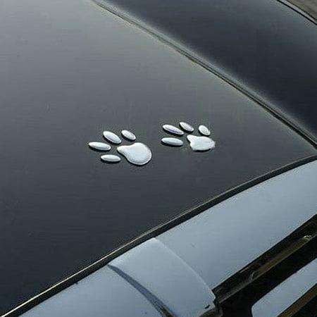 Brand New Car Sticker 3D Dog Bear Footprints Sgaoe Chrome Car Styling Sticker Decal - image 4 of 6