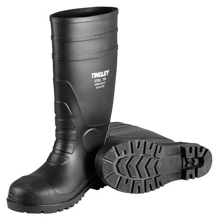 Tingley Rubber 31251.11 Steel-Toe Boots, Black PVC, 15-In., Men's Size 11