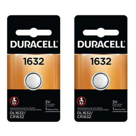 2 Pcs Duracell CR1632 1632 Car Remote Batteries (Battery 1632 Replacement)