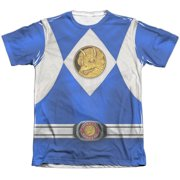 Power Rangers - Blue Ranger Emblem - Short Sleeve Shirt - XXX-Large