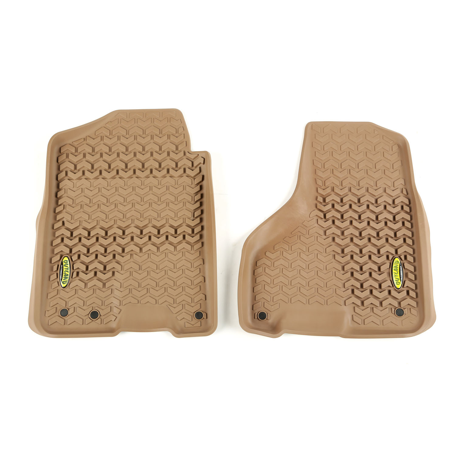 Outland 398390308 Front Tan Floor Liners for 12-16 Ram 1500-3500 Crew Cab