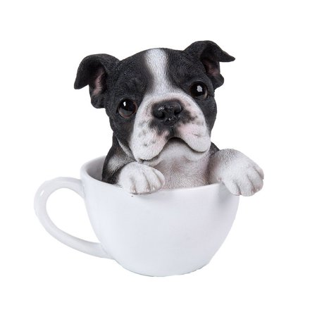 Boston Terrier Teacup Pet Pals Puppy Collectible Figurine 5.75 Inches