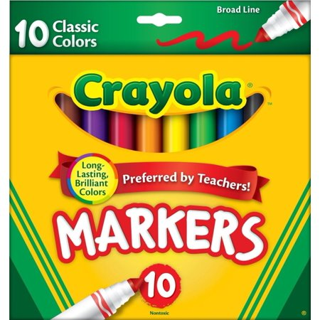 Crayola Classic Broad Line Markers, 10 Count