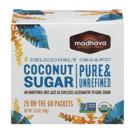 Madhava Organic Coconut Sugar Single Packets 25ct.