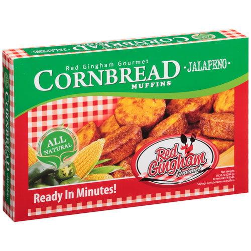 Red Gingham Gourmet Jalapeno Cornbread Muffins, 10.38 oz