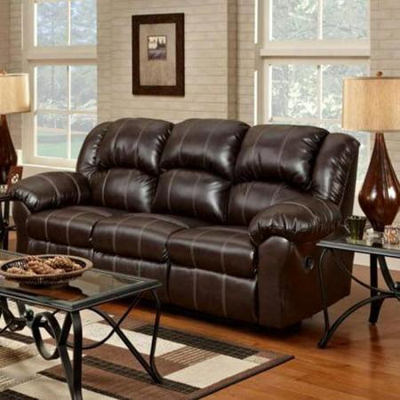 Chelsea home ambrose reclining leather sofa brandon for Chelsea leather sofa