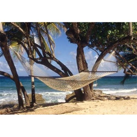 Posterazzi PDDCA37AJN0025 Hammock Tied Between Trees North Shore Beach St Croix Us Virgin Islands Print by Alison