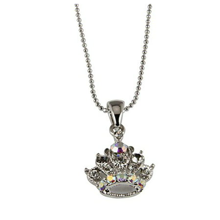 Royal Princess Crown Necklace Royalty Heiress 17 Inch Ball Chain ()