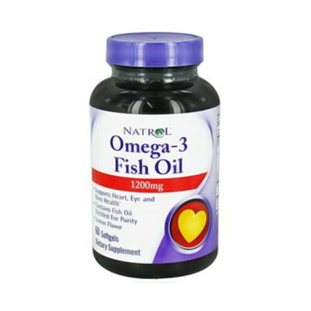 Natrol omega 3 fish oil 1200mg softgels lemon 60 ea for Lemon fish oil