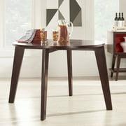 Chelsea Lane Baxter Round Dining Table, Dark Brown