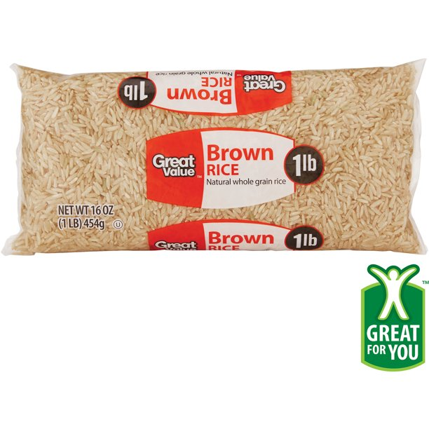 Great Value Brown Rice, 16 oz