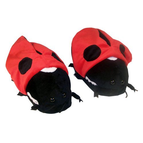 Comfy Feet Ladybug Animal Feet Slippers