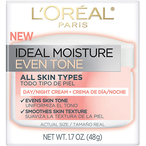 L'Oreal Paris Ideal Moisture Even Skin Tone Day Cream Day/Night Cream, 1.7 oz