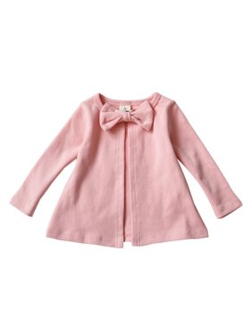 f30091c11ae Product Image Infant Baby Girls Cotton Bowknot Jacket Tops Long Sleeve  Cardigan Outwear