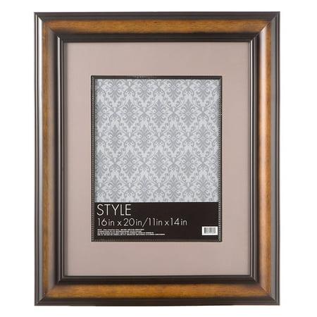 16 x 20 beaded wood picture frame dark walnut. Black Bedroom Furniture Sets. Home Design Ideas