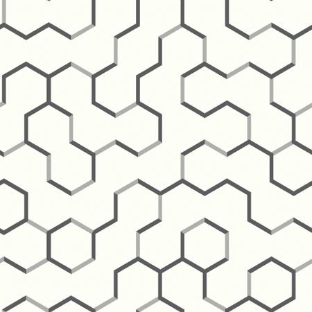RoomMates Grey Open Geometric Peel & Stick Wallpaper