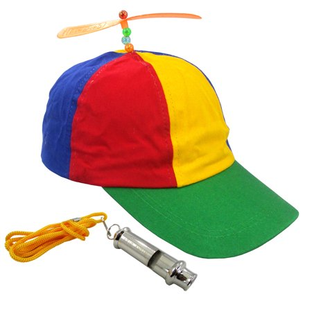 0d635011a8b Propeller Beanie Hat And Train Whistle Cap Noisemaker Fun Costume Accessory  Set - Walmart.com