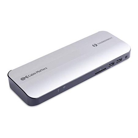 [Certified] Cable Matters Aluminum Thunderbolt 3 Dock with HDMI 2.0 and 60W Laptop Charging for Windows PC and MacBook Pro