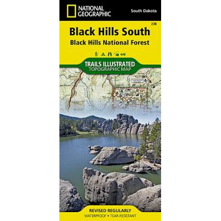 National Geographic Trails Illustrated Map Black Hills South - Paperback - Chapel Hill Halloween Map