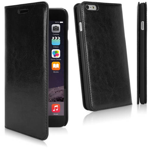 Apple iPhone 6 Plu BoxWave Corporation Wallet Leather Soft Shell Case Brown
