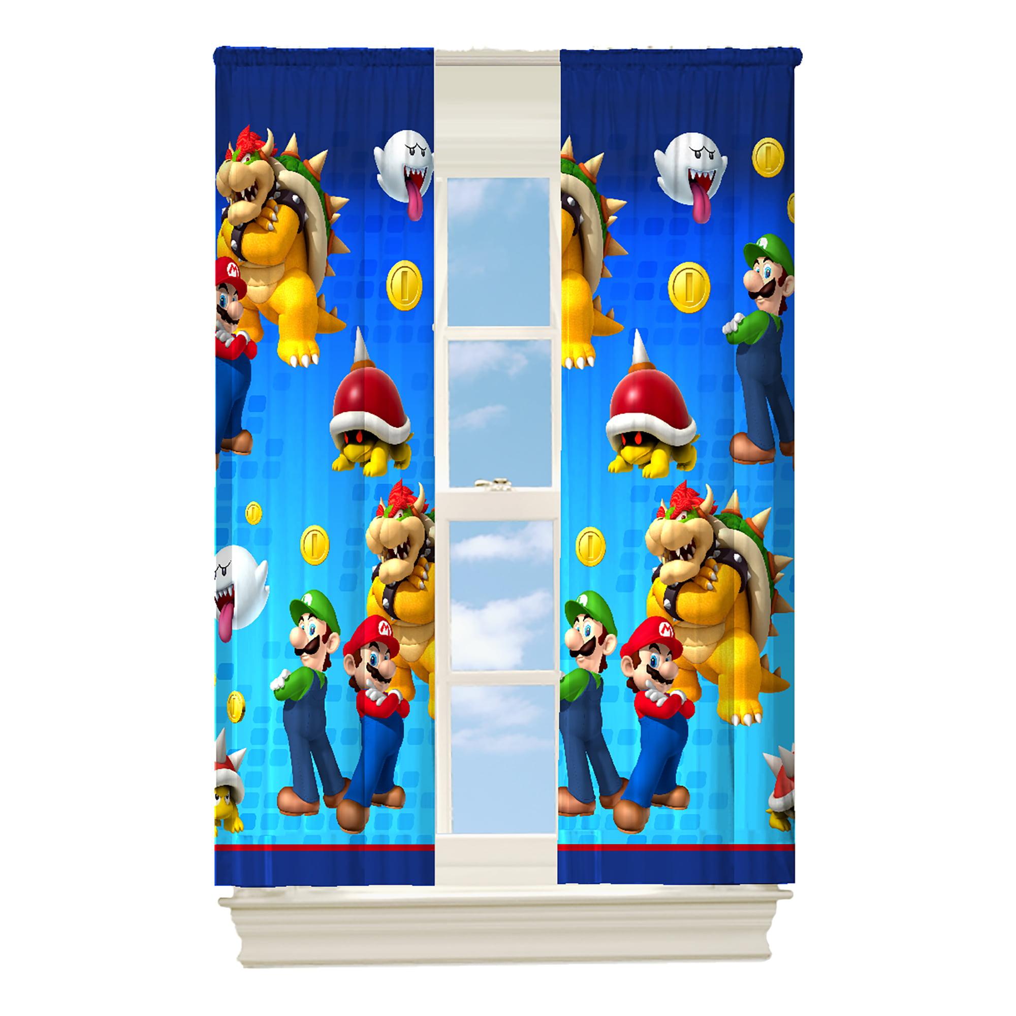 "Nickelodeon Super Mario ""Defiant Mario"" Room Darkening Boys Bedroom Curtain Panel by Franco Manufacturing"