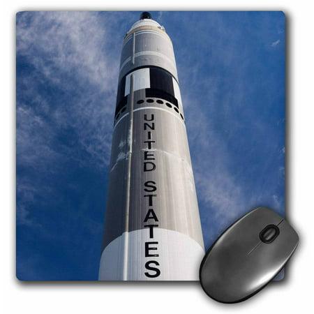 Titan Rocket - 3dRose USA, Kansas, Kansas Cosmosphere and Space Center, Titan II rocket., Mouse Pad, 8 by 8 inches