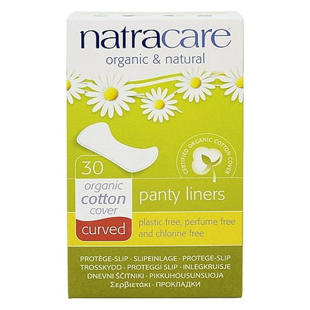 Natracare Natural Organic Curved Panty Liners, 30 Ct (Natracare Organic Panty Liners)