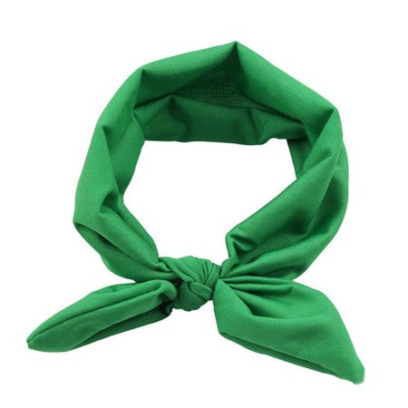 - Women Yoga Elastic Bow Hairband Turban Knotted Rabbit Hair Band Headband GN