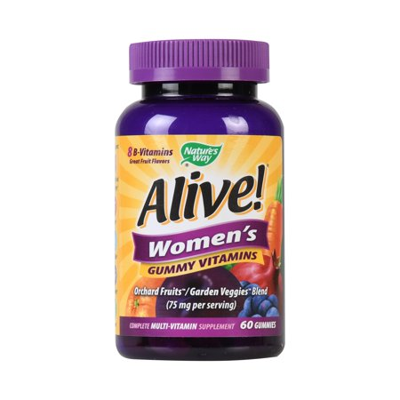 Natures Way Alive! Womens Gummy Vitamins Multivitamin Supplements 60