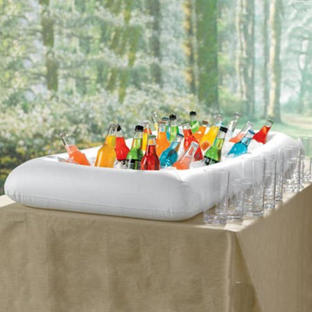 Inflatable Lightweight And Portable Ice Cold Serving Bar With Drain Plug
