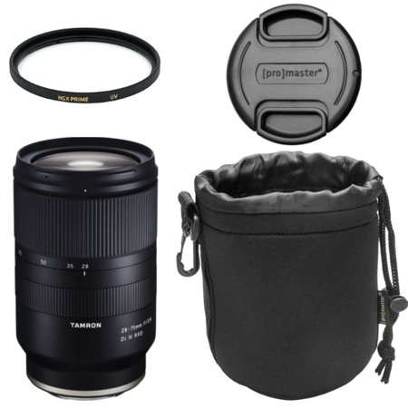 - TAMRON 28-75mm f/2.8 Di III RXD F/SONY, E-MOUNT/FULL-FRAME FORMAT, CONSTANT f/2.8 MAX APERURE, RXD STEPPING AF MOTOR, FLUORINE-COATED FRONT ELEMENT, MOISTURE-RESISTANT CONSTRUCTION