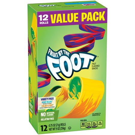 Betty Crocker Fruit By The Foot Variety Pack of Berry Tie-Dye and Color by the Foot Value Pack 12 - 0.75 oz Rolls