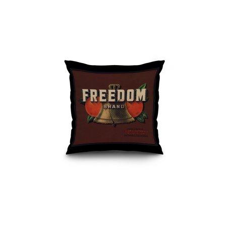 Freedom Brand - Escondido, California - Citrus Crate Label (16x16 Spun Polyester Pillow, Black Border)