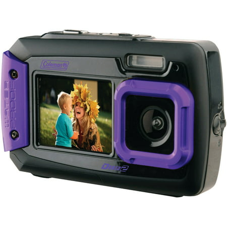 Coleman 2V9WP-P 20.0-Megapixel Duo2 Dual-Screen Waterproof Digital Camera (Best Camera For 200)